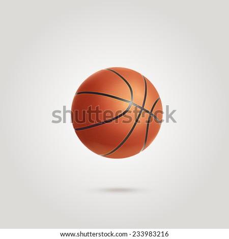 Orange basket ball isolated - stock vector