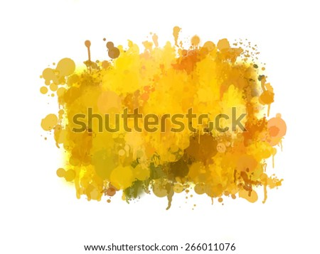 Orange brush strokes blobs. Vector version - stock vector
