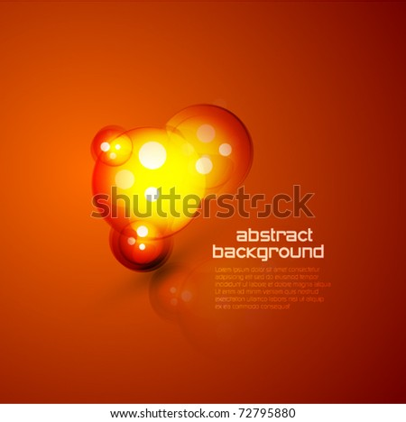 Orange bubble-shape. Abstract vector background - stock vector