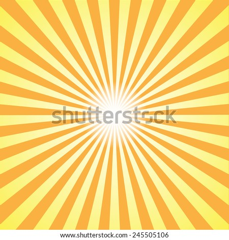 orange burst background. Vector/illustration. - stock vector