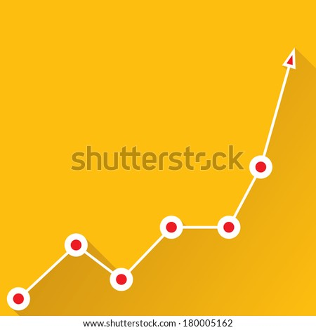 orange Business graph and chart background. vector illustration - stock vector