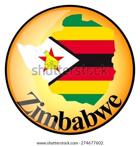 orange button with the image maps of Zimbabwe in the form of national flag