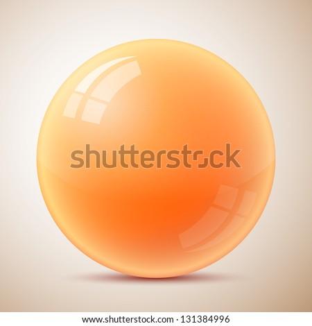 Orange caviar isolated - stock vector
