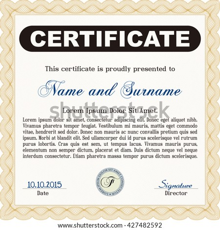 Orange certificate template cordial design customizable stock orange certificate template cordial design customizable easy to edit and change colors yelopaper Images