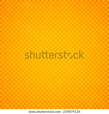 Orange checkers background, Old paper with stains - Vector - stock vector