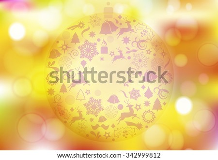 Orange Christmas abstract background - vector illustration - stock vector