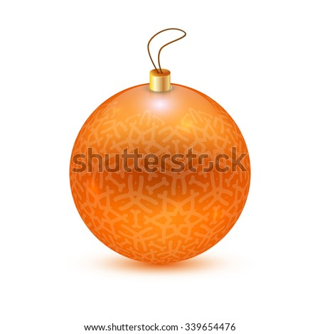 Orange christmas ball/Christmas ball/Orange christmas ball - stock vector