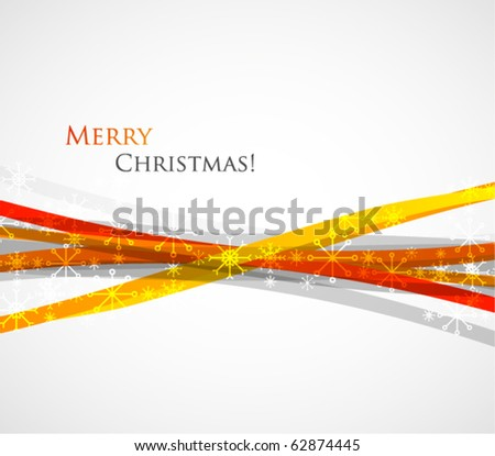 Orange Christmas-stylized vector background - stock vector
