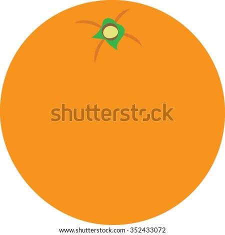 Orange Clip Art - Vector Illustration - stock vector