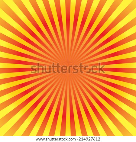 orange color burst background. Vector illustration - stock vector