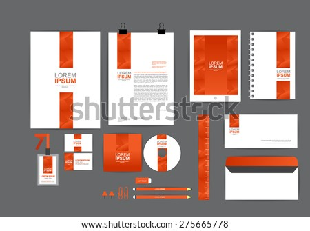 Business Letter With Red And Black Head Template on
