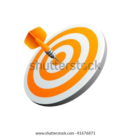 Orange darts - stock vector