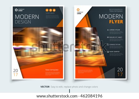 Flyer Design Corporate Business Template Brochure Stock Vector