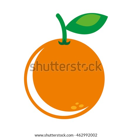 orange fresh fruit icon graphic isolated vector