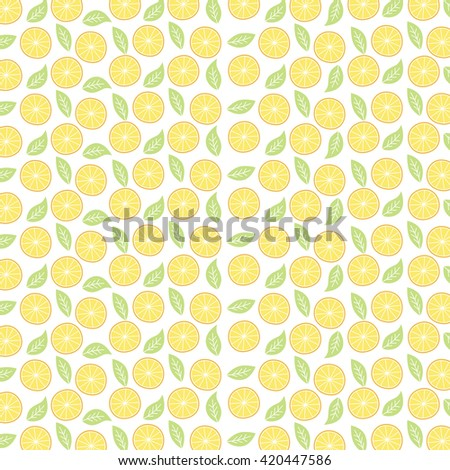 orange fruit pattern theme vector art illustration - stock vector