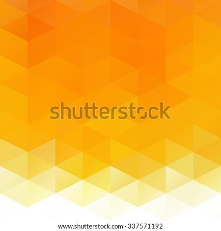 Orange Grid Mosaic Background, Creative Design Templates - stock vector