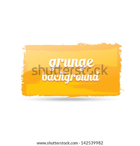 orange Grunge background. Retro background. Vintage background. Business background. Abstract background. Hand drawn. Texture background. Abstract shape. orange grunge speech bubble - stock vector