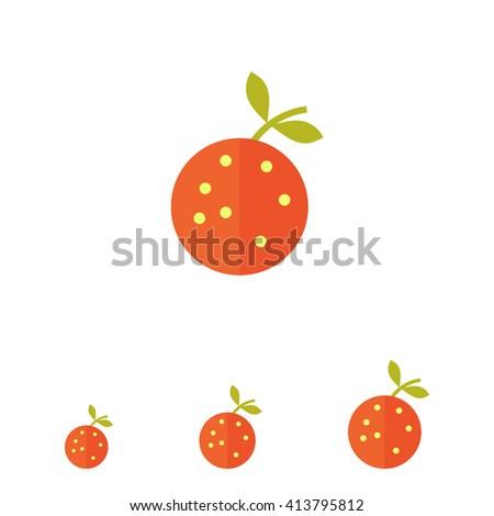 Orange icon - stock vector