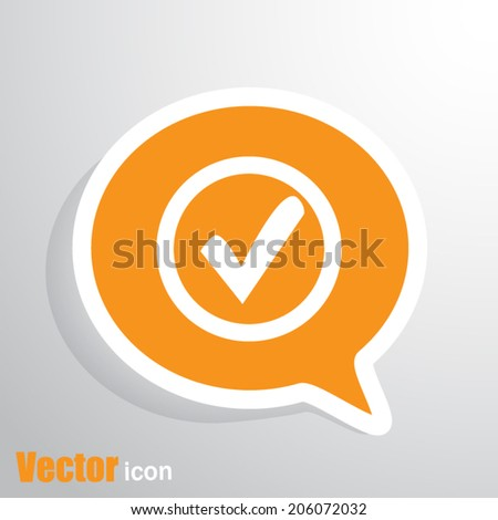 Orange icon on a gray background - stock vector