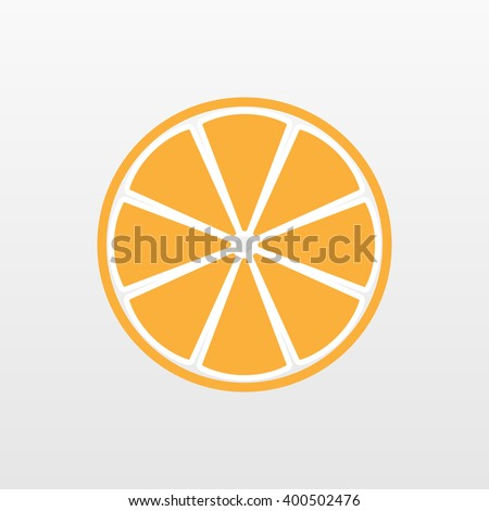 Orange icon. Slice orange vector, vitamin c.