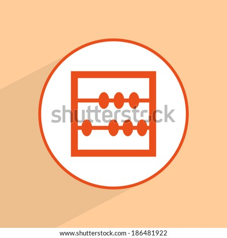 Orange icon, vector illustration - stock vector