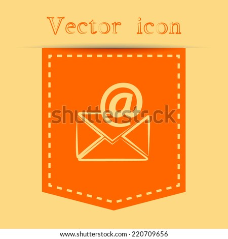 Orange icons with shadow. vector illustration - stock vector