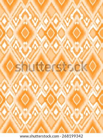 orange ikat design ~ seamless background - stock vector