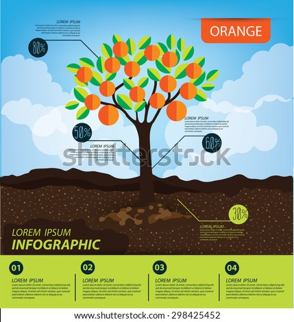 Illustration Tree Wide Spread Root Representing Stock