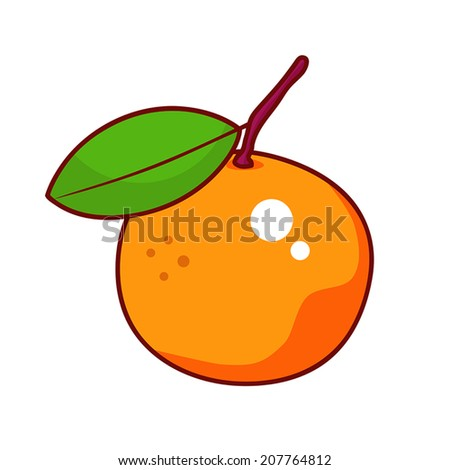 Orange isolated illustration on white background