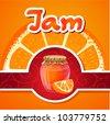 orange jam vector - stock vector