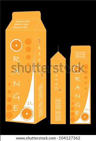 Orange juice pack design - stock vector