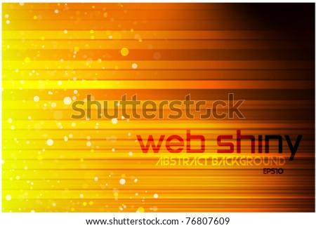 Orange light eps10 background - stock vector