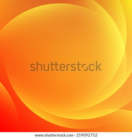 Orange light gradient abstract background - stock vector