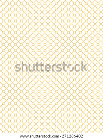 Orange line pattern over white color background - stock vector