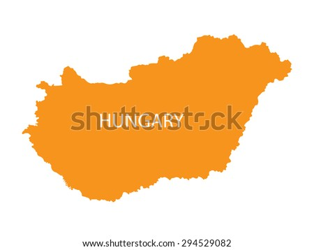 orange map of Hungary