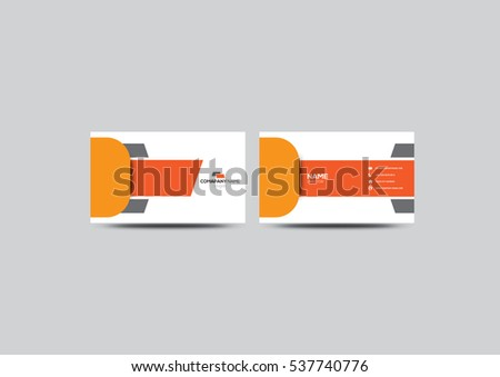 orange new business card vector template