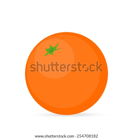 orange on a white background - stock vector