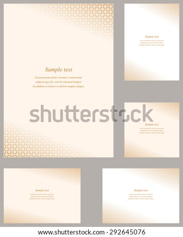 Grey Square Mosaic Page Corner Design Stock Vector