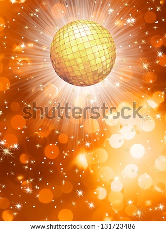 Orange party background. EPS 10 vector file included - stock vector