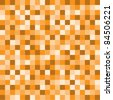 Orange pixel background - stock vector