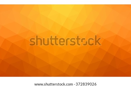 Orange polygonal pattern, which consist of triangles. Geometric background in Origami style with gradient. Triangular design for your business. - stock vector