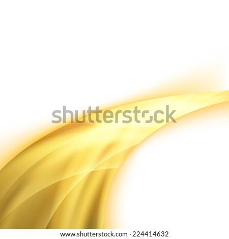 Orange power swoosh ray wave glare. Vector illustration - stock vector