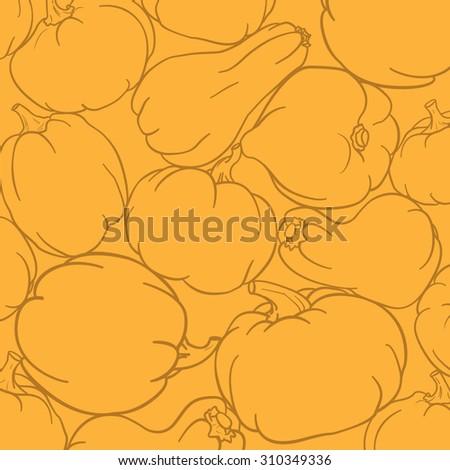 Orange Pumpkin Background. - stock vector
