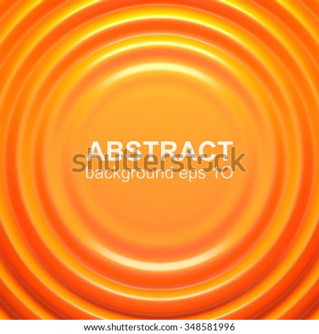 Orange rippled background with place for your content. Pattern design for banner, poster, flyer, card, postcard, cover, brochure. - stock vector