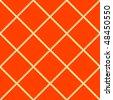 orange seamless ceramic tiles, abstract texture; vector art illustration - stock vector