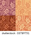 orange seamless pattern - stock vector