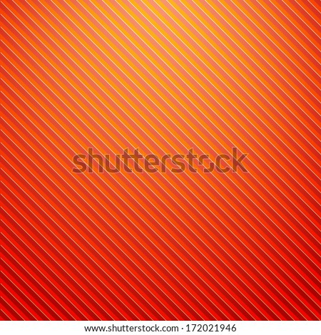 Orange striped background - stock vector