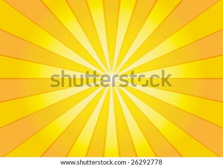 Orange sunburst background - stock vector