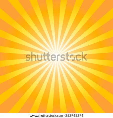 Orange sunburst background. Vector illustration - stock vector
