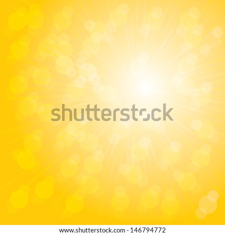 Orange sunburst summer.VECTOR.eps10 - stock vector